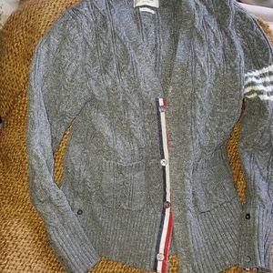 Thom Browne grey cotton cardigan 3